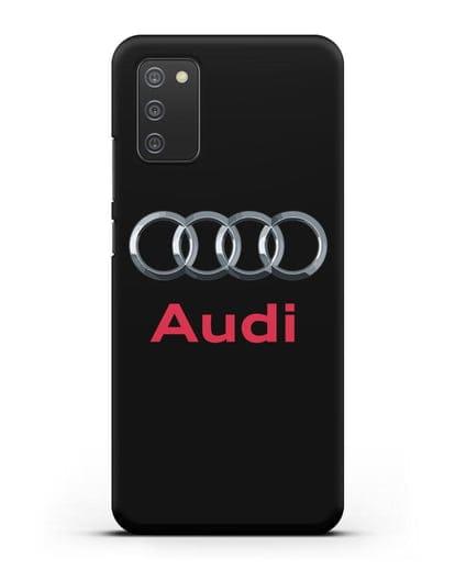 Чехол с логотипом Audi силикон черный для Samsung Galaxy A02s [SM-A025F]