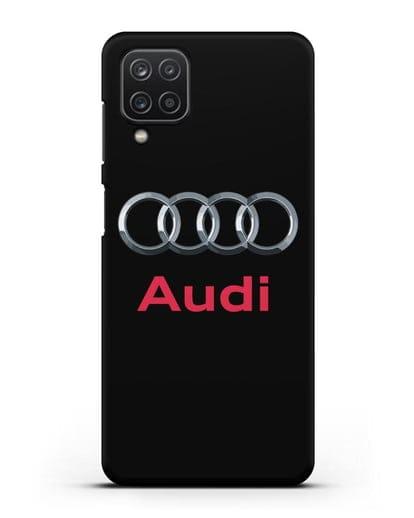 Чехол с логотипом Audi силикон черный для Samsung Galaxy A12 [SM-A125F]