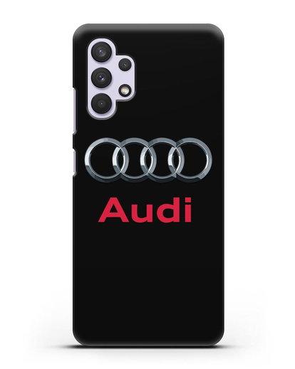 Чехол с логотипом Audi силикон черный для Samsung Galaxy A32 5G [SM-A326B]