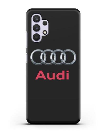 Чехол с логотипом Audi силикон черный для Samsung Galaxy A32 4G [SM-A325F]