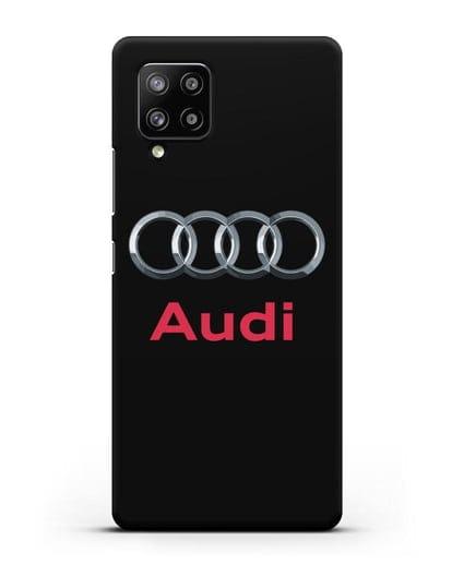 Чехол с логотипом Audi силикон черный для Samsung Galaxy A42 [SM-A426B]