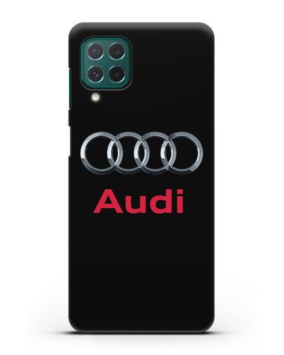 Чехол с логотипом Audi силикон черный для Samsung Galaxy M62 [SM-M625F]