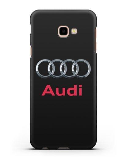 Чехол с логотипом Audi силикон черный для Samsung Galaxy J4 Plus [SM-J415]