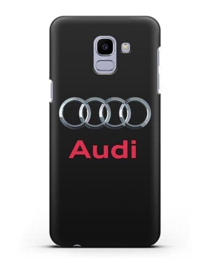 Чехол с логотипом Audi силикон черный для Samsung Galaxy J6 2018 [SM-J600F]