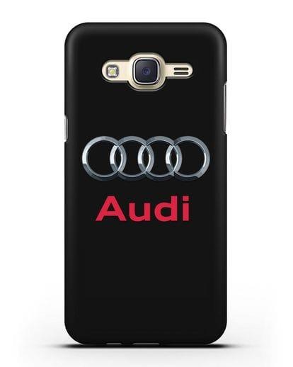 Чехол с логотипом Audi силикон черный для Samsung Galaxy J7 2015 [SM-J700H]