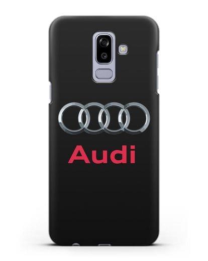 Чехол с логотипом Audi силикон черный для Samsung Galaxy J8 2018 [SM-J810F]