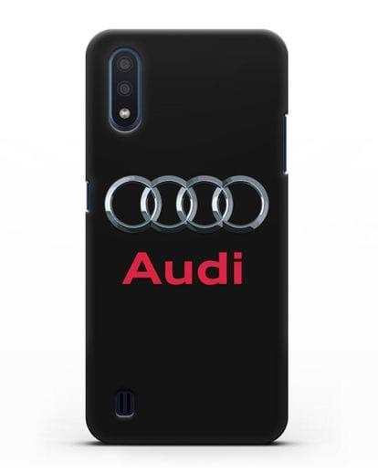 Чехол с логотипом Audi силикон черный для Samsung Galaxy M01 [SM-M015F]