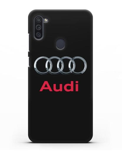 Чехол с логотипом Audi силикон черный для Samsung Galaxy M11 [SM-M115F]