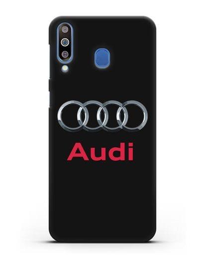 Чехол с логотипом Audi силикон черный для Samsung Galaxy M30 [SM-M305F]