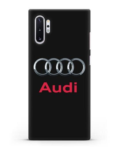 Чехол с логотипом Audi силикон черный для Samsung Galaxy Note 10 Plus [N975F]