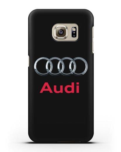 Чехол с логотипом Audi силикон черный для Samsung Galaxy S6 [SM-G920F]