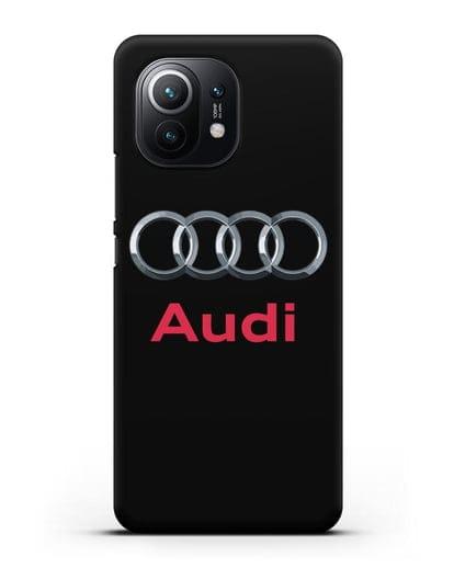Чехол с логотипом Audi силикон черный для Xiaomi Mi 11