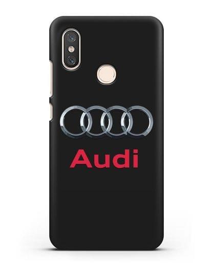 Чехол с логотипом Audi силикон черный для Xiaomi Mi 8