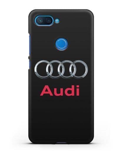 Чехол с логотипом Audi силикон черный для Xiaomi Mi 8 Lite