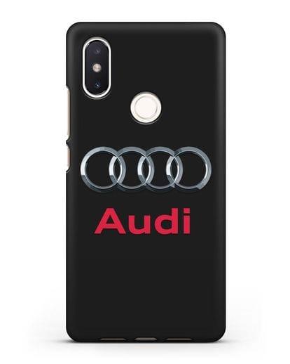 Чехол с логотипом Audi силикон черный для Xiaomi Mi 8 SE