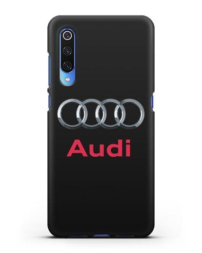 Чехол с логотипом Audi силикон черный для Xiaomi Mi 9