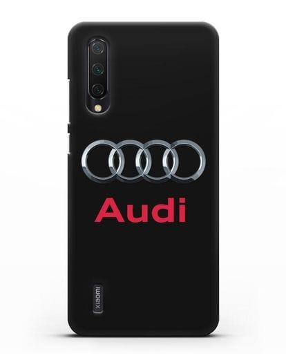 Чехол с логотипом Audi силикон черный для Xiaomi Mi 9 Lite