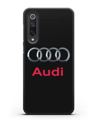 Чехол с логотипом Audi силикон черный для Xiaomi Mi 9 SE