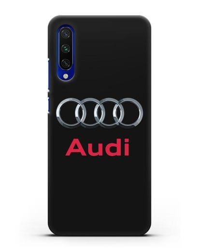 Чехол с логотипом Audi силикон черный для Xiaomi Mi A3