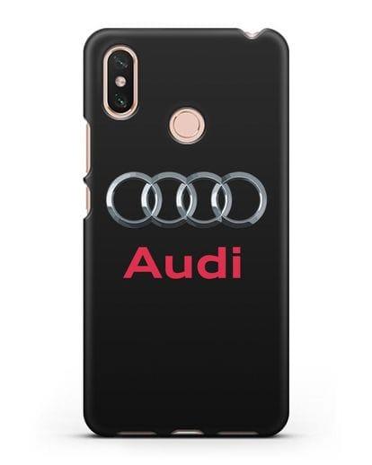 Чехол с логотипом Audi силикон черный для Xiaomi Mi Max 3