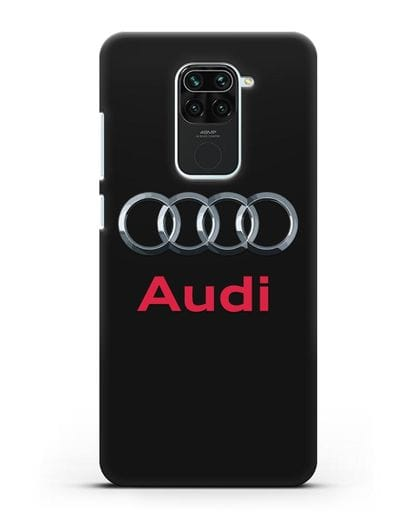 Чехол с логотипом Audi силикон черный для Xiaomi Redmi 10X