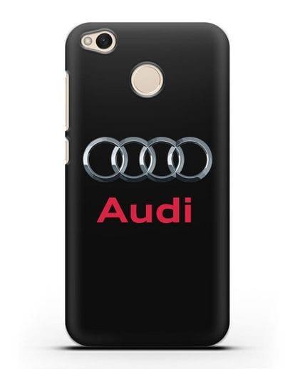 Чехол с логотипом Audi силикон черный для Xiaomi Redmi 4X