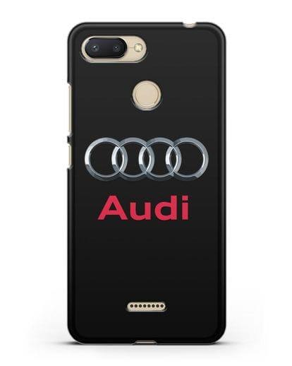 Чехол с логотипом Audi силикон черный для Xiaomi Redmi 6