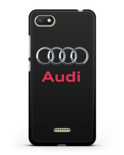 Чехол с логотипом Audi силикон черный для Xiaomi Redmi 6A