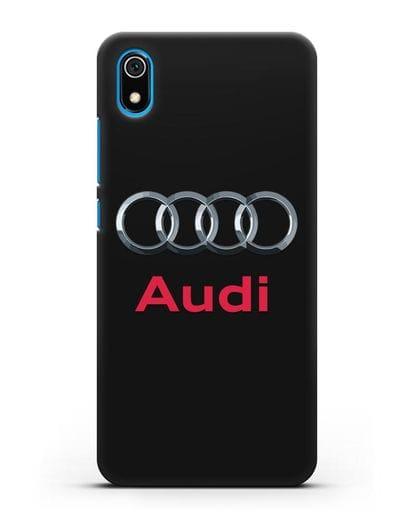 Чехол с логотипом Audi силикон черный для Xiaomi Redmi 7A