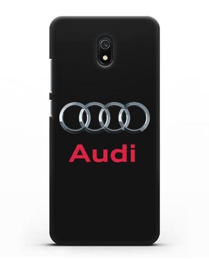 Чехол с логотипом Audi силикон черный для Xiaomi Redmi 8A
