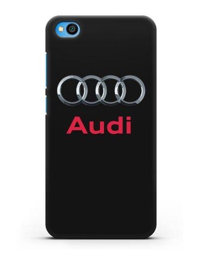 Чехол с логотипом Audi силикон черный для Xiaomi Redmi Go