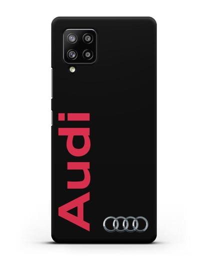 Чехол с надписью Audi и логотипом силикон черный для Samsung Galaxy A42 [SM-A426B]