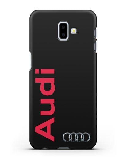 Чехол с надписью Audi и логотипом силикон черный для Samsung Galaxy J6 Plus [SM-J610F]