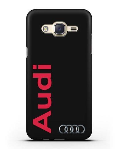 Чехол с надписью Audi и логотипом силикон черный для Samsung Galaxy J7 Neo [SM-J701F]