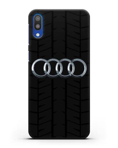 Чехол с логотипом Audi c протектором шин силикон черный для Samsung Galaxy M10 [SM-M105F]