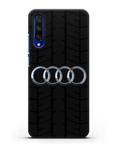 Чехол с логотипом Audi c протектором шин силикон черный для Xiaomi Mi CC9 E