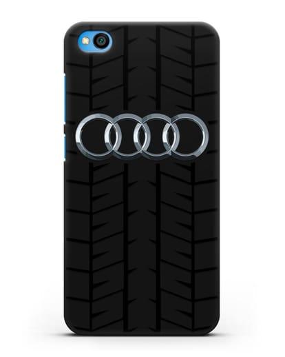 Чехол с логотипом Audi c протектором шин силикон черный для Xiaomi Redmi Go