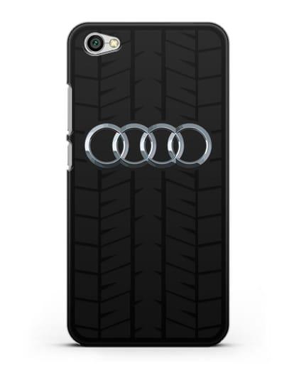 Чехол с логотипом Audi c протектором шин силикон черный для Xiaomi Redmi Note 5A