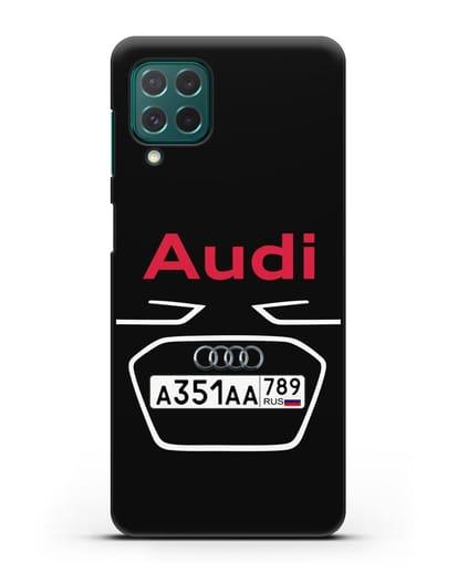 Чехол Ауди с номерным знаком силикон черный для Samsung Galaxy M62 [SM-M625F]