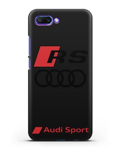 Чехол с логотипом Audi RS Sport силикон черный для Honor 10