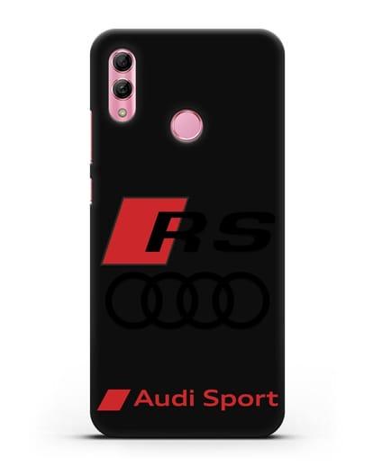 Чехол с логотипом Audi RS Sport силикон черный для Honor 10 Lite
