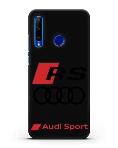 Чехол с логотипом Audi RS Sport силикон черный для Honor 10i