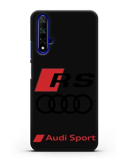 Чехол с логотипом Audi RS Sport силикон черный для Honor 20