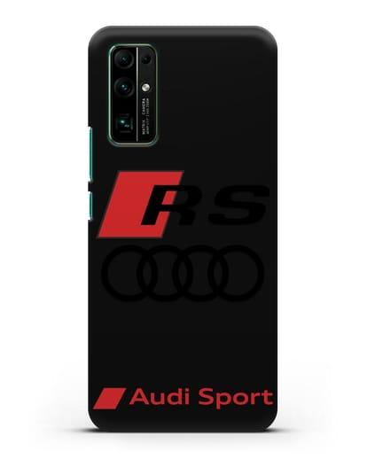 Чехол с логотипом Audi RS Sport силикон черный для Honor 30