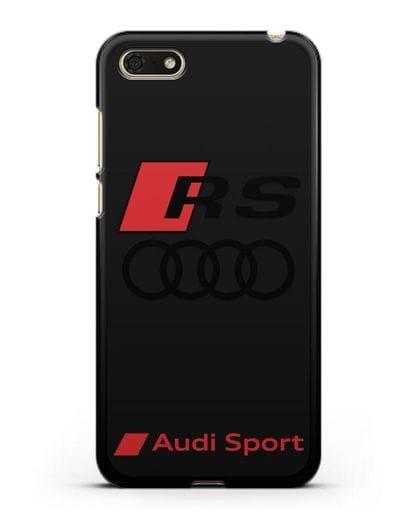 Чехол с логотипом Audi RS Sport силикон черный для Honor 7А