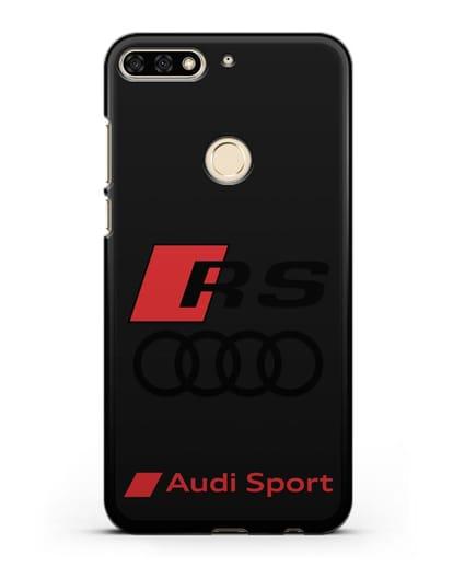 Чехол с логотипом Audi RS Sport силикон черный для Honor 7C