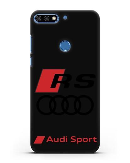 Чехол с логотипом Audi RS Sport силикон черный для Honor 7C Pro