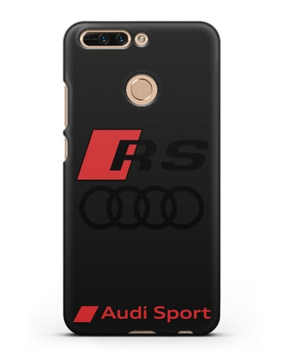 Чехол с логотипом Audi RS Sport силикон черный для Honor 8 Pro