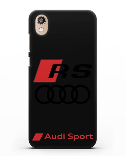 Чехол с логотипом Audi RS Sport силикон черный для Honor 8S