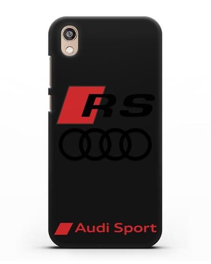 Чехол с логотипом Audi RS Sport силикон черный для Honor 8S Prime